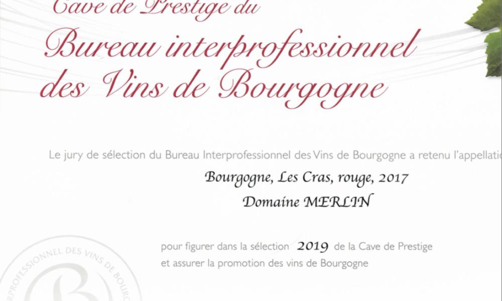 Visuel actualité Cave de Prestige des vins de Bourgogne 2019