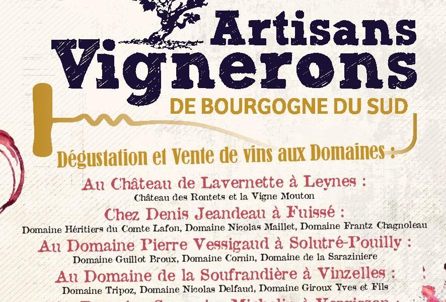 Visuel actualité 15ème dégustation des Artisans Vignerons de Bourgogne du Sud